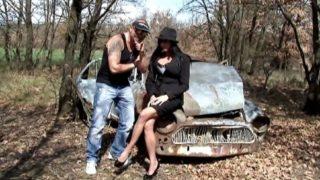 video chaude d'une partie de cul dans les bois